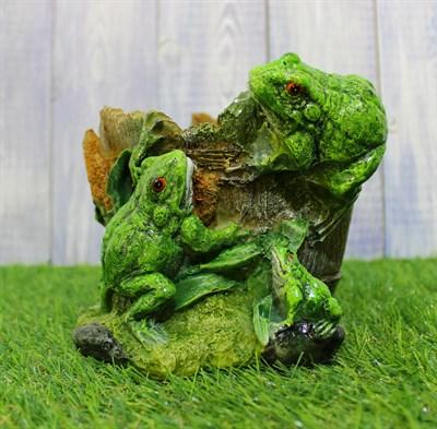 Aists.ru - Магазин садовых фигур - Кашпо лягушки